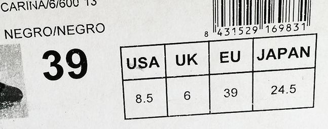 nieuwe foto's authentiek geen verkoopbelasting Schoenmaat 8 omrekenen. Maat 8 naar US en EU voor dames / heren.